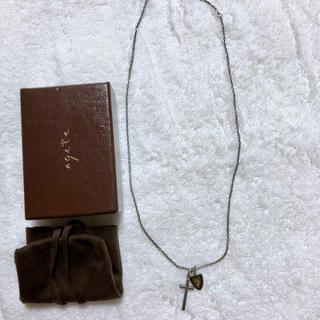 アガット(agete)の美品2.1万 agate for MEN ネックレス アガット シルバー クロス(ネックレス)