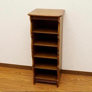 カリモクカグ(カリモク家具)のkarimoku カリモク 5段スリッパラック 電話台 木製 ブナ材 家具 収納(玄関収納)