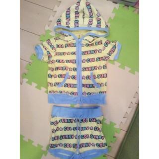 ココルルミニ(CO&LU MINI)のCOCOLULU  ココルル  半袖パーカー ショートパンツ セットアップ(Tシャツ/カットソー)