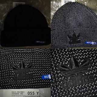 アディダス(adidas)の【新品レア】Adidas USA リフレクター ニット帽 ビーニー(ニット帽/ビーニー)