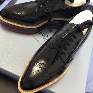 プラダ(PRADA)の年末セール! 値下げ 新品 PRADA レースアップダービーシューズ(ローファー/革靴)