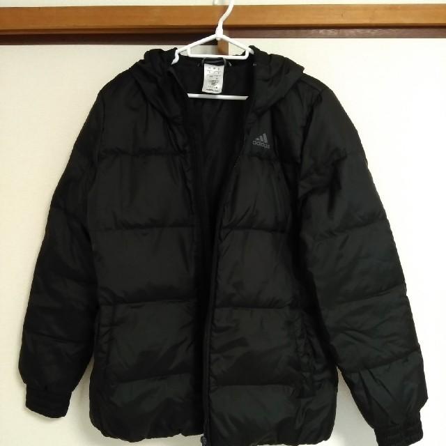 adidas(アディダス)のアディダス フード付きダウンジャケット 黒 レディースのジャケット/アウター(ダウンジャケット)の商品写真