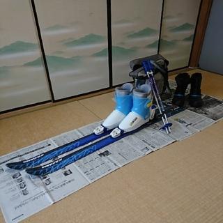 子供スキーセット 板140&ブーツ24(収納袋付)&伸縮ポール&スノーブーツ24(板)
