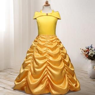 ディズニー(Disney)の美女と野獣 ベル風 ドレス コスプレ 衣装(衣装一式)
