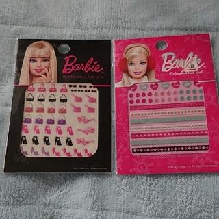バービー(Barbie)の新品未使用☆Barbie バービー ネイルシール2枚組①(ネイル用品)