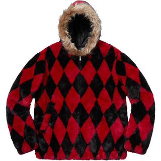 シュプリーム(Supreme)のDiamond faux fur jacket Mサイズ(毛皮/ファーコート)