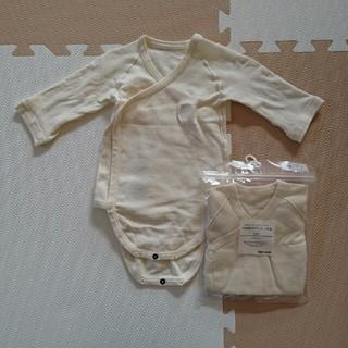 ムジルシリョウヒン(MUJI (無印良品))の【カービー様専用】長袖半袖ボディスーツ(肌着/下着)