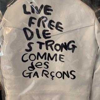 コムデギャルソン(COMME des GARCONS)の青山購入 ギャルソン×ルイスレザー  白 36 新品 CDG(レザージャケット)