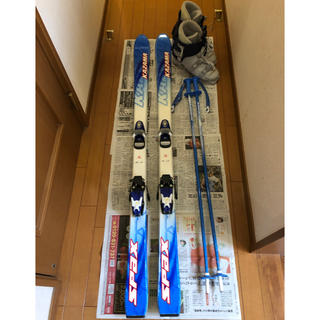 直引き取り可 子供スキー3点セット 板150 ブーツ26.5 ストック105(その他)