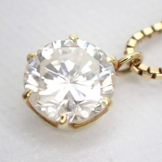 E146 K18 イエローゴールド ダイヤモンド ネックレス 0.623ct(ネックレス)