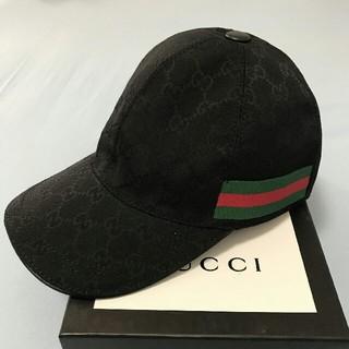 グッチ(Gucci)のGucci グッチ  キャップ ブラック M(キャップ)