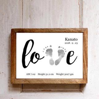 【love】足型入り記念フレーム 【A4】(手形/足形)