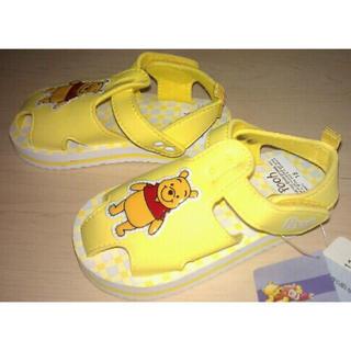 ディズニー(Disney)の新品 Disney Pooh プーさん♪超軽量 サンダル 靴 15cm(サンダル)