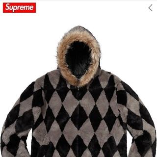 シュプリーム(Supreme)のsupreme diamond foux fur jacket(ブルゾン)