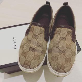 グッチ(Gucci)のGUCCI グッチ kids キッズ シューズ スリッポン 28 16 17(スリッポン)