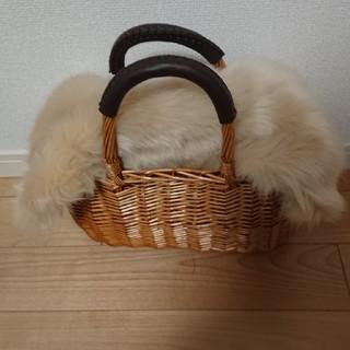 シマムラ(しまむら)の新品☆しまむら☆ファーかごバッグ(かごバッグ/ストローバッグ)