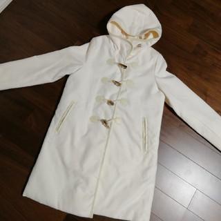 フェリシモ(FELISSIMO)のフェリシモ コート キルト ホワイト(ダッフルコート)
