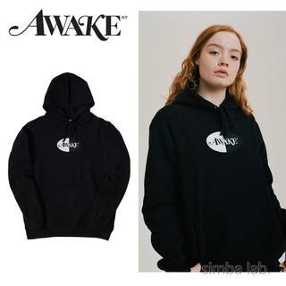 アウェイク(AWAKE)のAwake NY アウェイク バイカラーロゴ パーカー フーディー Lサイズ(パーカー)