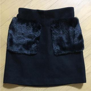 ジーユー(GU)のファーポケットスカート(スカート)