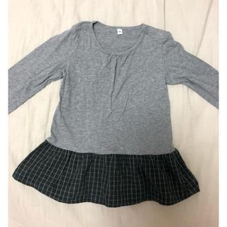 ムジルシリョウヒン(MUJI (無印良品))の女児長袖Tシャツ 90(薄手)(Tシャツ/カットソー)
