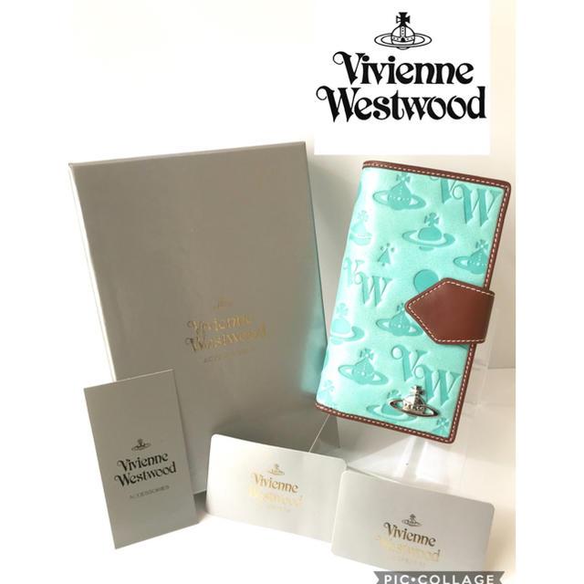Vivienne Westwood(ヴィヴィアンウエストウッド)の大人気!【新品】Vivienne Westwood アクアマリン手帳型財布 本物 レディースのファッション小物(財布)の商品写真
