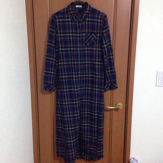 ハニーズ(HONEYS)のチェックシャツ マキシ丈ワンピース(ロングワンピース/マキシワンピース)