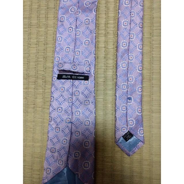 TETE HOMME(テットオム)の1018#TETE HOMME★テットオム★ネクタイ★ピンク メンズのファッション小物(ネクタイ)の商品写真
