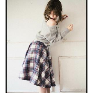 ドロシーズ(DRWCYS)のドロシーズ 紗栄子着 チェックフレアーススカート グレー(ひざ丈スカート)