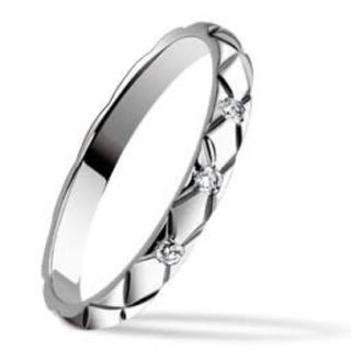 シャネル(CHANEL)のCHANEL マトラッセ リング 3つダイヤ入り(リング(指輪))