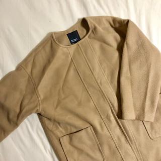 シマムラ(しまむら)の着画あり コート キャメル(ピーコート)