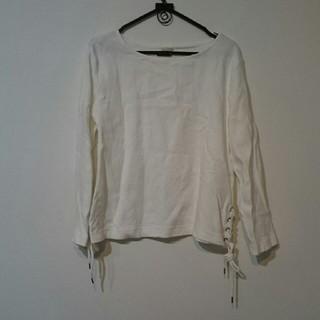 ジーユー(GU)のサイドレースアップT(Tシャツ(長袖/七分))