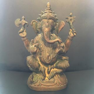 仏像 銅像 置物 インテリア オブジェ 彫刻 ガネーシャ 象