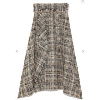 ミラオーウェン(Mila Owen)のミラオーウェン ツイードヘムラインスカート ロングスカート(ロングスカート)