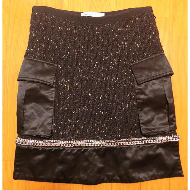 sacai luck(サカイラック)のsakai luck購入ニット切替スカート レディースのスカート(ミニスカート)の商品写真