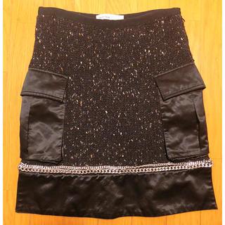 サカイラック(sacai luck)のsakai luck購入ニット切替スカート(ミニスカート)