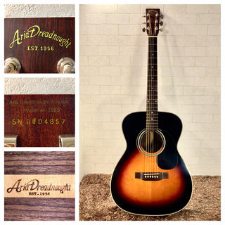 アリアカンパニー(AriaCompany)のジャイアン様専用 740.AriaAF-35BS❗️ナット&サドル牛骨‼️(アコースティックギター)