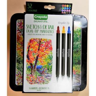 32色  クレヨラ  シグネチャー ツインカラースケッチペン (カラーペン/コピック)