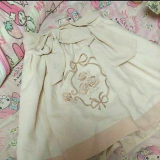 リズリサ(LIZ LISA)の【美品・訳あり】LIZ LISA バラ刺繍スカート Free(ミニスカート)