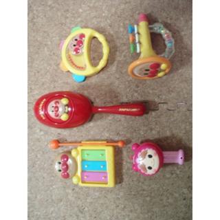 アンパンマン(アンパンマン)のアンパンマン 音が出るおもちゃ 5点セットA(楽器のおもちゃ)