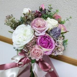 ⭐️美咲⭐️様専用     ウェディングブーケ&ブートニア(ブーケ)