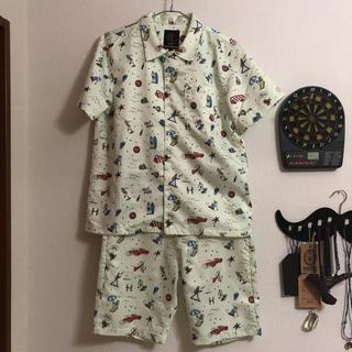 ハーフマン(HALFMAN)のHALFMAN 総柄セットアップ(Tシャツ/カットソー(半袖/袖なし))