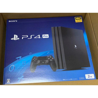 ソニー(SONY)の【未開封新品】Sony PlayStation4 Pro ブラック 2TB(家庭用ゲーム機本体)