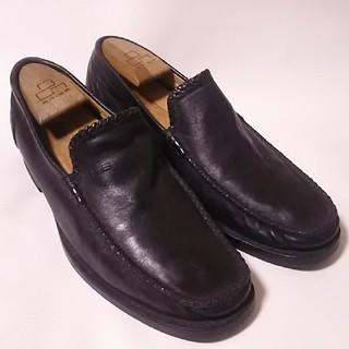 バレンシアガ(Balenciaga)の 希少90sビンテージ!バレンシアガ高級牛革レザースリッポンローファー短靴黒  (ドレス/ビジネス)
