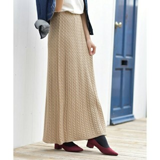 ⭐r・p・s⭐アールピーエス ケーブル編みロングニットスカート マキシ