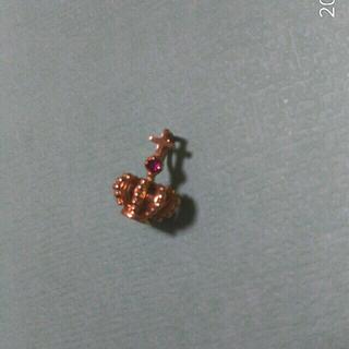 アガット(agete)のルビーの王冠ネックレストップK18 (チャーム)