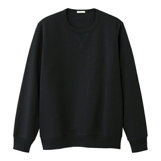 ジーユー(GU)のジーユーGUスウェットシャツ(長袖)S ブラック(スウェット)