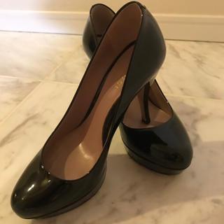 e986ae5e2fba グッチ(Gucci)の美品 グッチ GUCCI 靴 35 エナメル パンプス ハイヒール 黒(