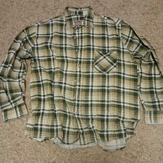 アメリカンイーグル(American Eagle)のアメリカンエディション チェックシャツ 緑色 サイズL(シャツ)
