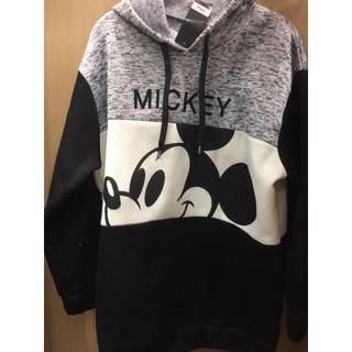 Disney - 新品 3L グレー スポーティー ミッキー パーカー 大きいサイズ Disney