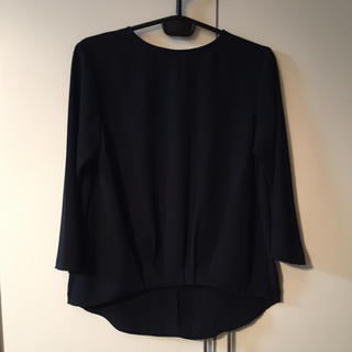 ジーユー(GU)のGU ロンT 黒 S(Tシャツ(長袖/七分))